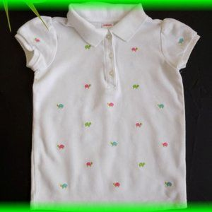 Gymboree Tennis Match Turtle Polo Shirt Size 7